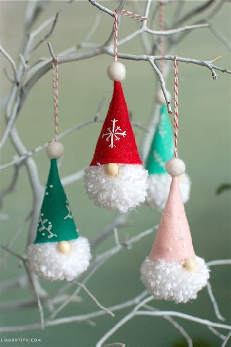 diy gnome ornaments holiday inspiration hoosier homemade