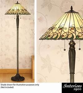 Interiors 1900 2 light floor lamp base only bronze for Bronze floor lamp base only