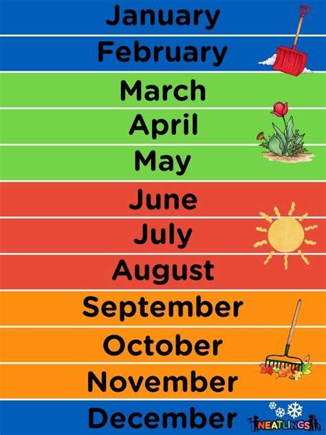 printable months year calendar neatlings