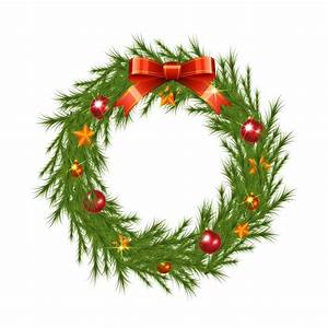 Realistic christmas wreath Vector | Free Download