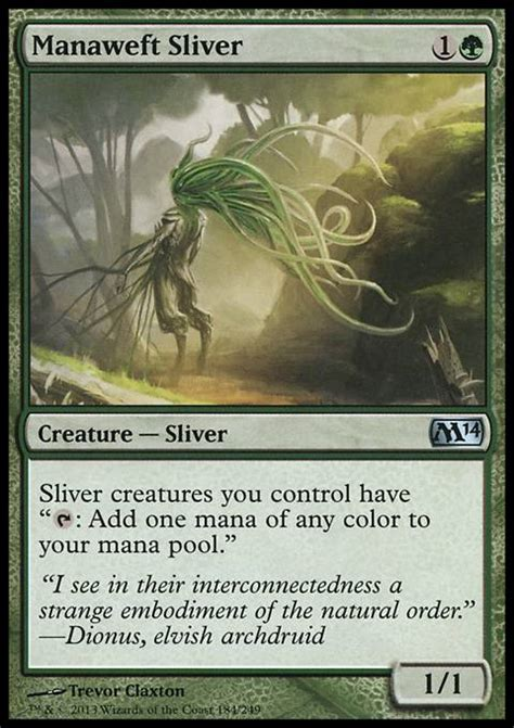 Best Sliver Deck Magic 2014 by Manaweft Sliver M14 Mtg Card