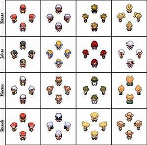 Pokemon Main Character Sprites by Getsuei-H on DeviantArt