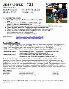 best photos of athlete bio template football player With football cv templates free