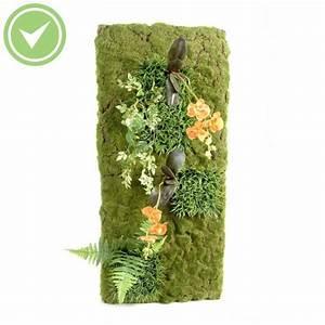 Mur De Fleur Artificielle : mur vegetal 88 40 composition artificielle maison et fleurs ~ Teatrodelosmanantiales.com Idées de Décoration