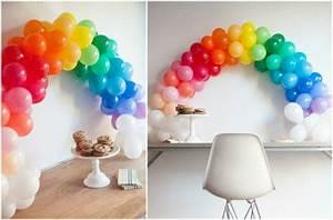 Deco Anniversaire Adulte : d coration en ballons gonflables multicolores arc en ciel ~ Melissatoandfro.com Idées de Décoration