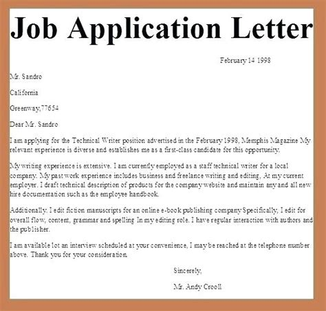 write cover letter  job vacancy bestlettersco