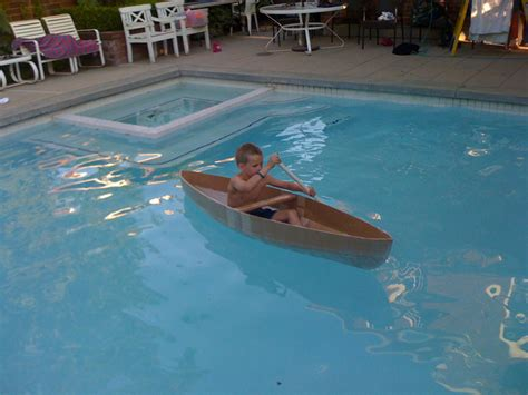 Cardboard Boat Hacks how to make a cardboard canoe for your in the pool