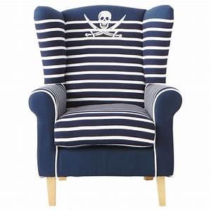 Fauteuil Bleu Marine : fauteuil enfant en coton ray bleu marine pirate maisons du monde ~ Teatrodelosmanantiales.com Idées de Décoration