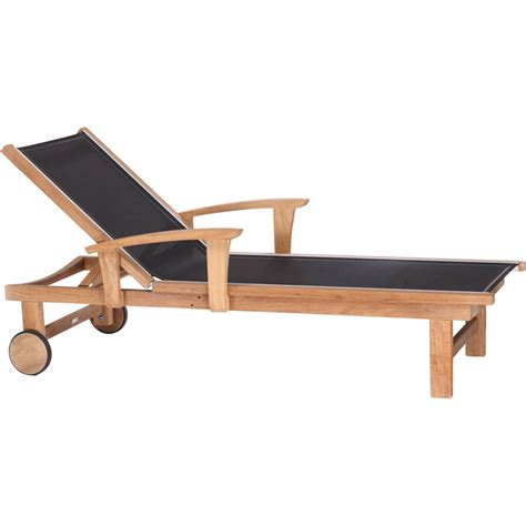 kingsley bate st tropez chaise teak lounger with sling