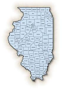 Illinois County Map with Cities
