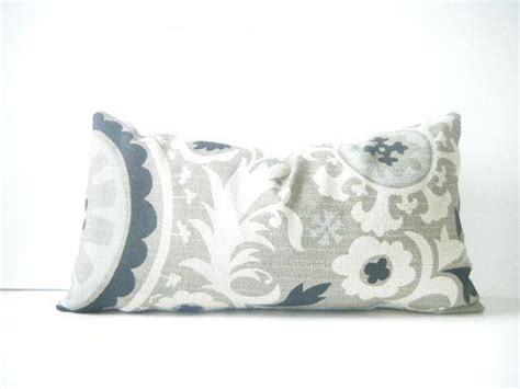 light blue lumbar pillow rustic chic black white brownish gray and light blue