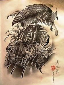 Koi Dragon Tattoo #2 | koi fish | Pinterest | Koi dragon ...