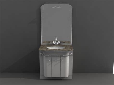 small bathroom vanity combo 3d model 3d studio 3ds max autocad drawing files free