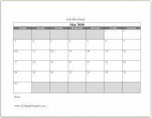 2020 Yearly Calendar Word Free 2020 Calendar Template Word