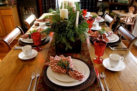 Italian Decorations For Home: Italian Table Decorations With Red And White Checkered