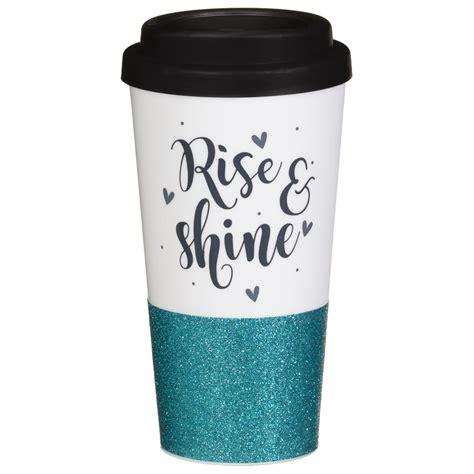plastic sparkle travel mug rise shine travel bm