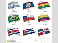 A Collection Of The Flags Covering The Corresponding