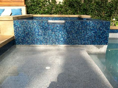 captivating swimming pool tile repair with glass mosaic