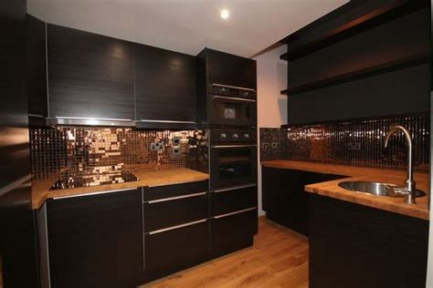 black  copper kitchen ideas modern extravagant  bold designs