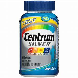 Centrum Silver Multivitamin  Multimineral Supplement  Ultra Men U0026 39 S  Tablets  200 Tablets