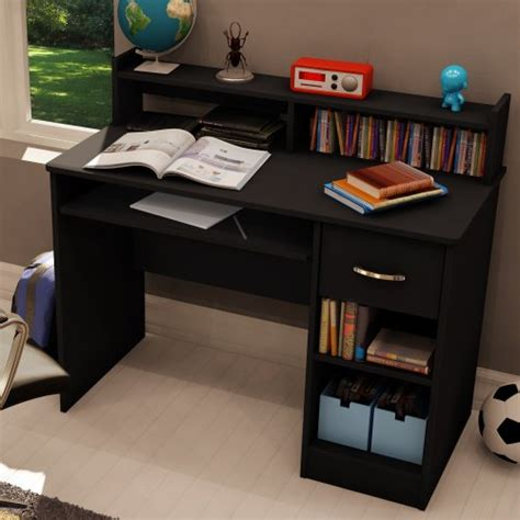 Desks For Small Bedrooms by South Shore 7270076 Axess Desk With Keyboard Tray Black