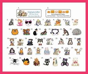 Cat Personalized Address Labels  30 Return Address Labels