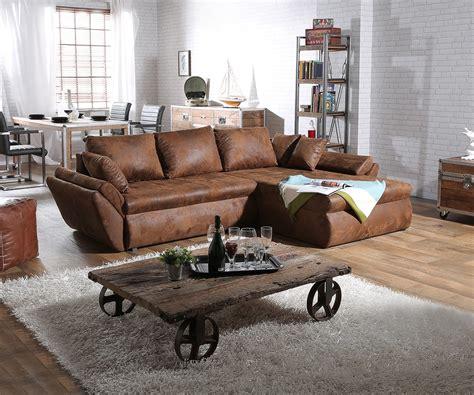 couch loana braun  cm ecksofa schlaffunktion