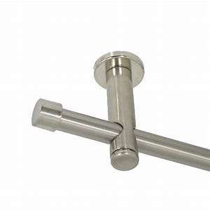Gardinenstange Mit Schiene : gardinenstange 16 mm mit endkappe aus metall edelstahl ~ Michelbontemps.com Haus und Dekorationen