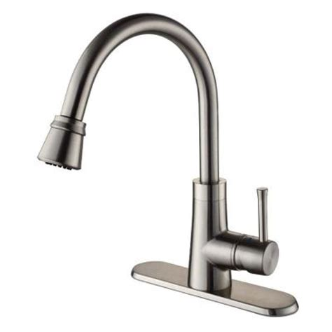 kraus kitchen faucet home depot kraus single handle pull out sprayer kitchen faucet in