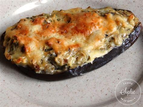 aubergines farcies aux cèpes la tendresse en cuisine