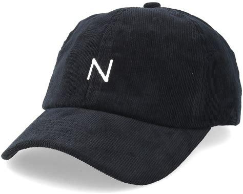 Corduroy Baseball Cap Black Adjustable
