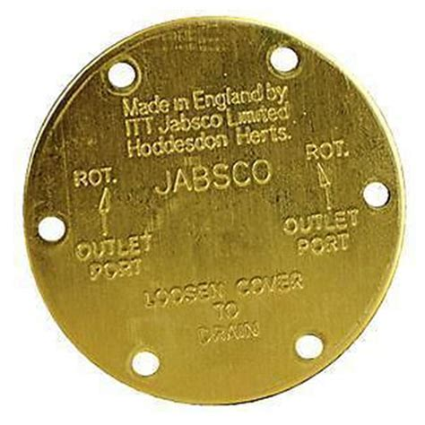 Jabsco, End Cover, Pump Replacement Parts, 11836-0000
