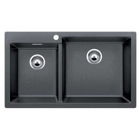 kitchen sinks blanco blanco pleon 9 anthracite silgranit sink kitchen sinks 2984