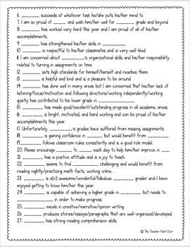 100 report card comments you can use now freebie by the 621 | original 1862014 4