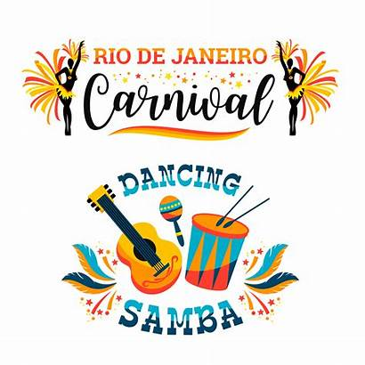 Carnival Vector Brazilian Emblems Samba Brasil Vectors