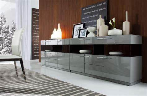Contemporary Sideboards Buffets by Modrest Daytona Modern Grey High Gloss Buffet Buffets