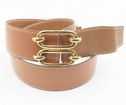Belt Hermes Buckle Gold Wide Double Plated