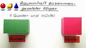 Oberflächeninhalt Quader Berechnen : volumen und oberfl che von quadern und w rfeln ~ Themetempest.com Abrechnung