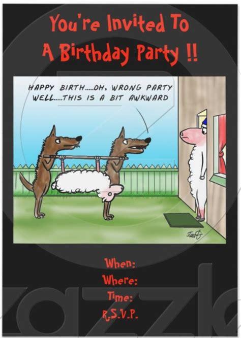 funny birthday invites wording  templates bagvania