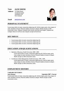sample cv resume template via format curriculumvitae With curriculum vitae format