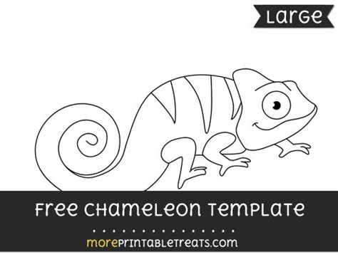 chameleon template chareloen free colouring pages