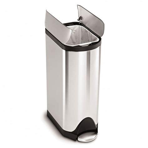 poubelle cuisine inox poubelle de cuisine à pédale 30 litres inox brossé