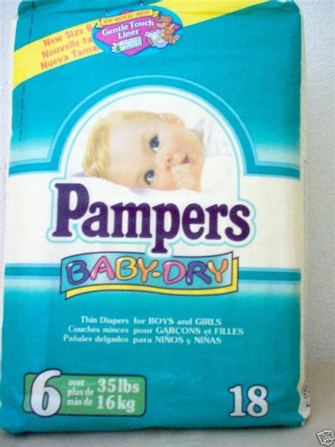Pampers 1998 05 Pampers Baby Dry Size 6 By Vintage