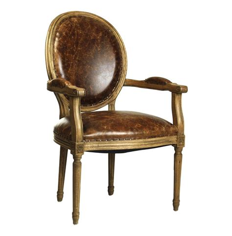 country louis xvi oval back leather dining arm