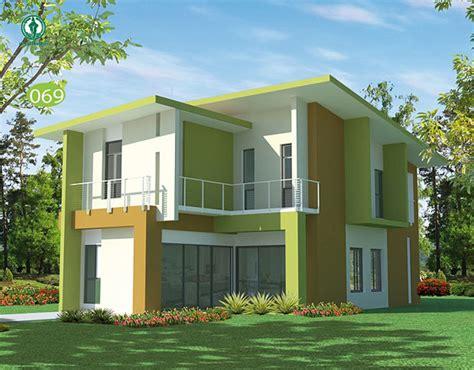 gambar rumah minimalis hijau