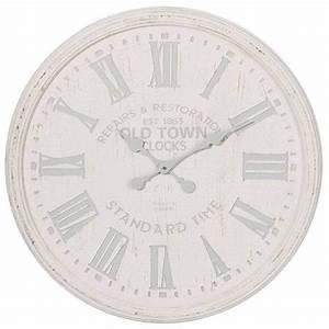Horloge Murale Blanche : 7 prachtige wandklokken voor een landelijk interieur ik ~ Teatrodelosmanantiales.com Idées de Décoration