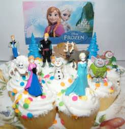 disney frozen movie cake toppers party favors set of 13