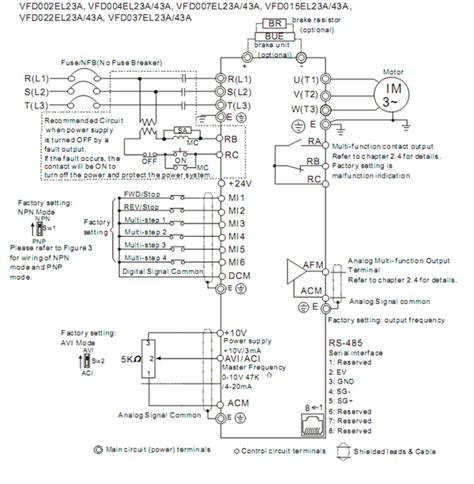 delta inverter vfd drive vfd022el43a 3phase 380v 2 2kw 3hp