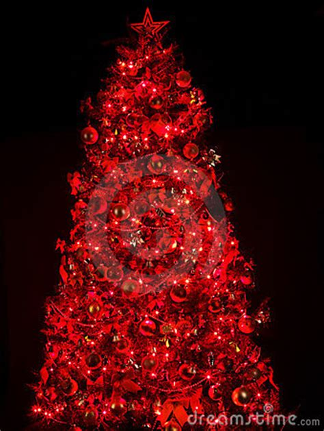red lights christmas tree tree with light and royalty free stock photography image 22220747