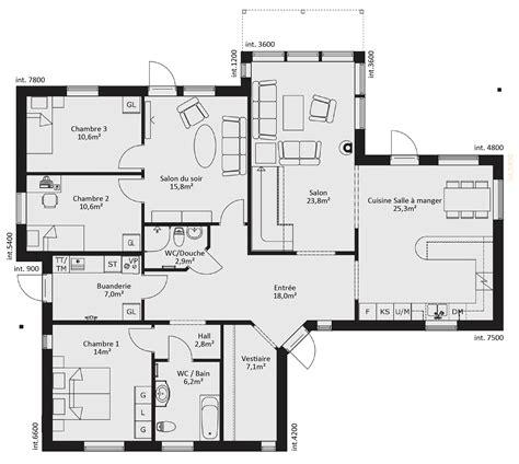 plan maison plain pied 6 chambres plan maison plain pied 6 chambres evtod